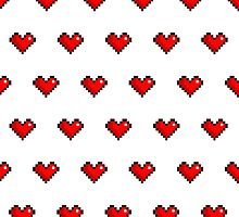 Pixel Heart Pattern by maximumcapacity