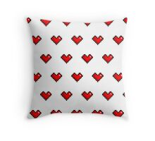 Pixel Heart Pattern Throw Pillow