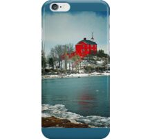 Marquette Harbor Lighthouse-Marquette, Michigan iPhone Case/Skin