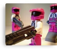 Halo Wars Pink Spartan Soldier, Custom Minifigure Canvas Print