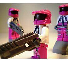 Halo Wars Pink Spartan Soldier, Custom Minifigure Photographic Print