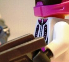Halo Wars Pink Spartan Soldier, Custom Minifigure Sticker