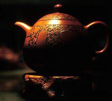 old man teapot by Tom  Cockrem