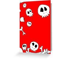 Floating Skulls Greeting Card