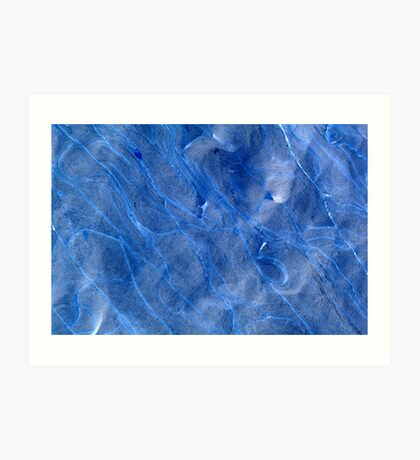 Blue stone. Art Print