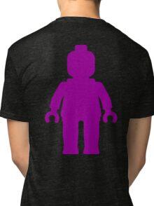 Minifig [Large Purple]  Tri-blend T-Shirt