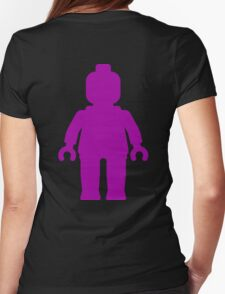 Minifig [Large Purple]  Womens Fitted T-Shirt