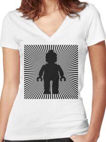 VORTEX MINIFIG Women's Fitted V-Neck T-Shirt