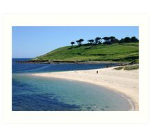 Pelistry beach. Art Print