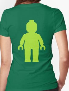 Minifig [Large Lime Green]  Womens Fitted T-Shirt