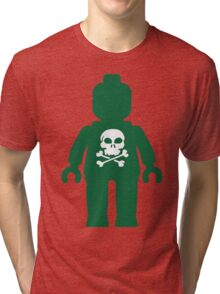 Minifig with Skull Design Tri-blend T-Shirt