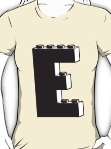 THE LETTER E by Customize My Minifig T-Shirt