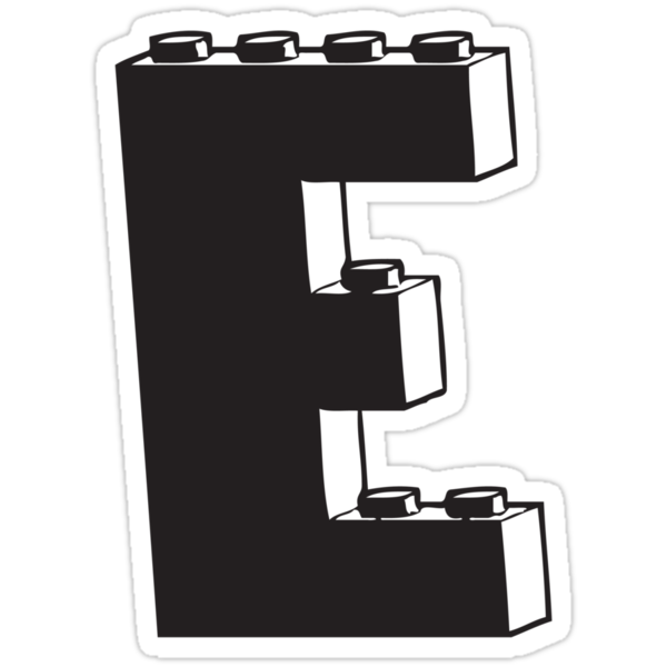 THE LETTER E  by Customize My Minifig