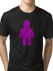 Minifig [Purple] Tri-blend T-Shirt