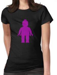 Minifig [Purple] Womens Fitted T-Shirt