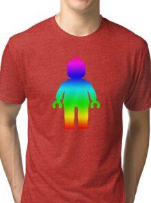 Minifig [Rainbow 1]  Tri-blend T-Shirt