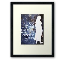 She walks in Starlight... Framed Print