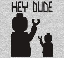 Minifig Hey Dude One Piece - Long Sleeve