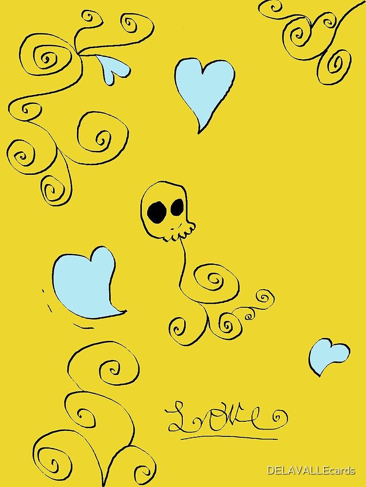 Love Skull by DELAVALLEcards