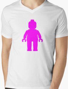 Minifig [Dark Pink]  Mens V-Neck T-Shirt