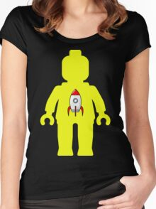 Minifig with Rocket Ship  Women's Fitted Scoop T-Shirt