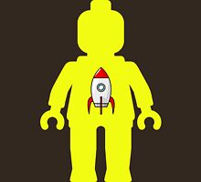 Minifig with Rocket Ship  Unisex T-Shirt