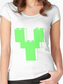 THE LETTER Y by Customize My Minifig Women's Fitted Scoop T-Shirt