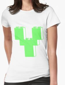 THE LETTER Y by Customize My Minifig Womens Fitted T-Shirt
