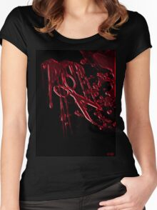 Bloody Scissors Women's Fitted Scoop T-Shirt