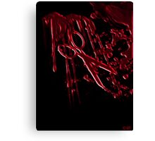 Bloody Scissors Canvas Print