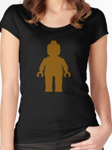 Minifig [Brown]  Women's Fitted Scoop T-Shirt