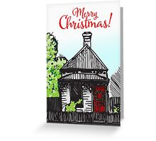 Red Door Christmas Greeting Card