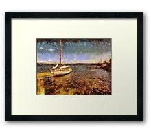 Old vintage wooden sail boat Framed Print