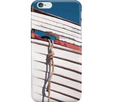 Prow of a wooden boat iPhone Case/Skin