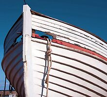 Prow of a wooden boat by Ron Zmiri
