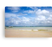 St. Ives harbour beach. Canvas Print
