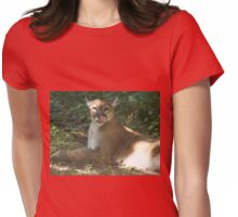Cougar Licking Its Chops Womens Fitted T-Shirt