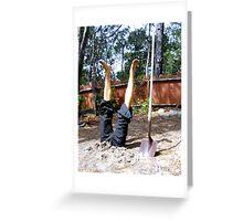 Manual Labor Greeting Card