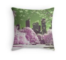 ...colorful city.. Throw Pillow