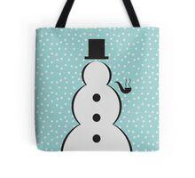 Snowman Christmas Scene Tote Bag
