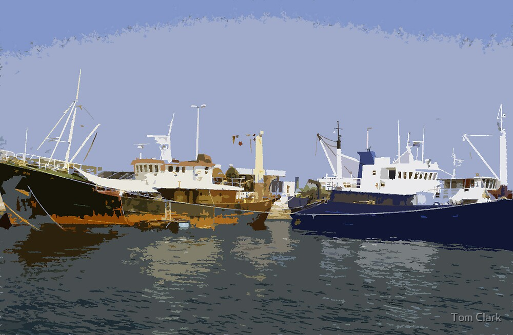 Fishing boats by Tom Clark