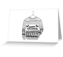 Happy Holidays Ugly Sweater Greeting Card
