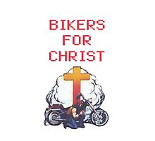 bikers for Christ Photographic Print