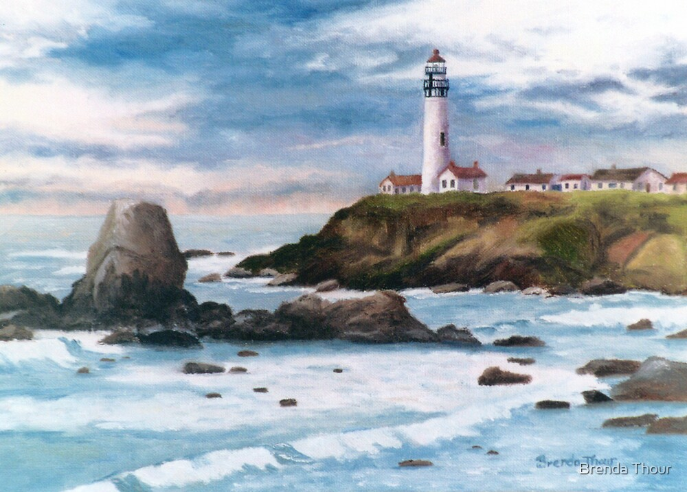 Pigeon Point Light by Brenda Thour