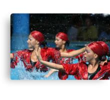 Aqua Ballet Canvas Print