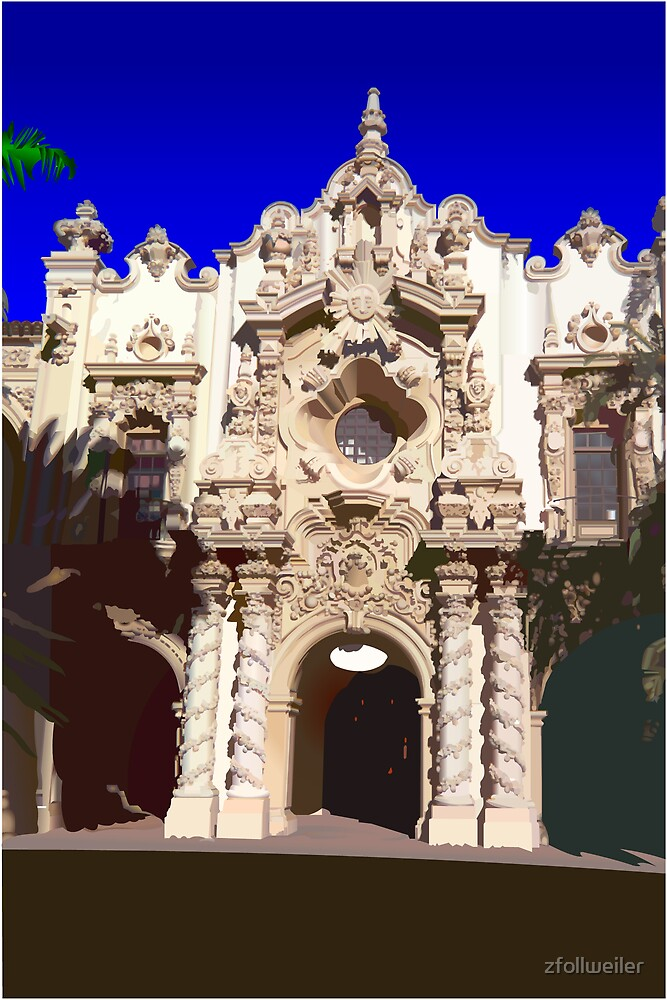 Building in Balboa Park by zfollweiler