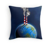 earth and pollution Throw Pillow