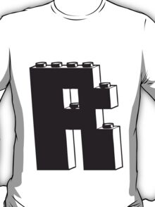THE LETTER R by Customize My Minifig T-Shirt