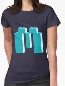 THE LETTER M, by Customize My Minifig Womens Fitted T-Shirt