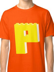 THE LETTER P, by Customize My Minifig Classic T-Shirt